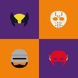 Halloween-Kostuummaskers Stock Foto