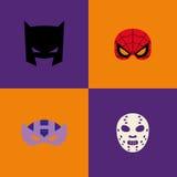 Halloween-Kostuummaskers Stock Afbeeldingen