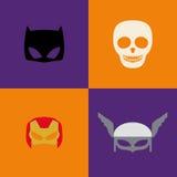 Halloween-Kostuummaskers Stock Afbeelding