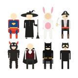 Halloween-Kostuums Royalty-vrije Stock Afbeelding