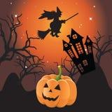 halloween krajobraz ilustracji