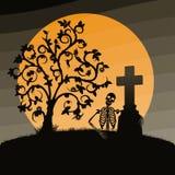 halloween krajobraz Obraz Royalty Free