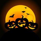 Halloween-Kürbisauslegung Stockfotos