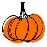 Halloween kreślił pomarańczowej bani Zdjęcia Stock