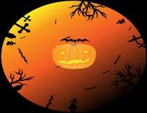 Halloween-Kreis Stockfoto