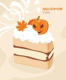 Halloween-Kuchen auf dem dekorativen Hintergrund Stockbild