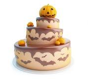 Halloween-Kuchen 3d auf einem weißen Hintergrund Lizenzfreie Stockfotos