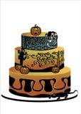 Halloween-Kuchen mit Geckos vektor abbildung