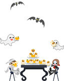 Halloween-Kuchenparty!! Lizenzfreies Stockbild