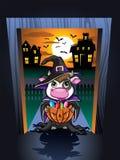 Halloween-Kuh Lizenzfreies Stockbild
