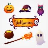 Halloween-Kunstillustration Stockfotos