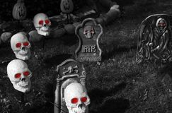 Halloween kyrkogård Royaltyfria Foton