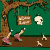 Halloween-Läufer vektor abbildung