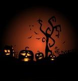 Halloween, la celebrazione più terribile e più terrificante Immagini Stock