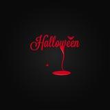 Halloween-laat vallen het pictogram van letters voorziende bloed achtergrond Royalty-vrije Stock Afbeelding
