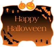 Halloween label Royalty Free Stock Image