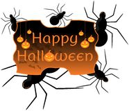 Halloween label Royalty Free Stock Photography