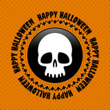 Halloween label Stock Image