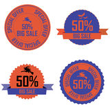 Halloween labels Stock Images