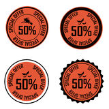 Halloween labels Royalty Free Stock Photo