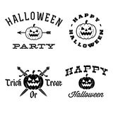 Halloween labels Stock Photography