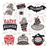 Halloween Labels Set Stock Photos