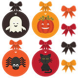 Halloween labels Stock Image