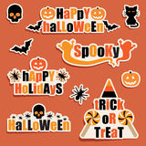 Halloween labels Royalty Free Stock Photography