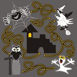 Halloween, labirinto Immagine Stock