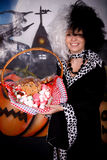 Halloween lady Cruella de vil Royalty Free Stock Photo
