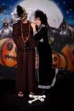 Halloween lady Cruella de vil Stock Image