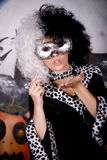 Halloween lady Cruella de vil Stock Images