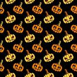 Halloween lag Muster mit Kürbisen schräg Lizenzfreie Stockfotografie