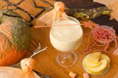 Halloween lambs wool drink for kids Royalty Free Stock Image