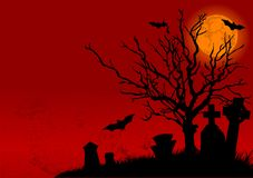 Halloween landscape Royalty Free Stock Images