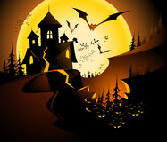 Halloween landscape. Stock Images