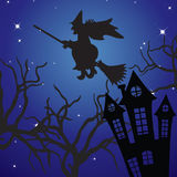Halloween landscape. Royalty Free Stock Photo