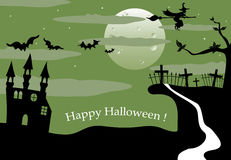 Halloween landscape Royalty Free Stock Photo