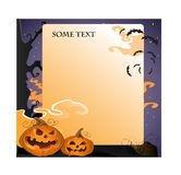 Halloween landscape text background stock photos