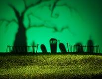 Halloween-landschap Royalty-vrije Stock Afbeelding
