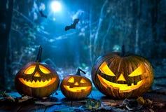 Halloween-lantaarn van de pompoen de hoofdhefboom royalty-vrije stock afbeeldingen