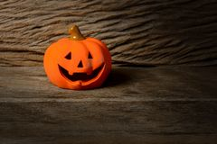 Halloween-lantaarn van de pompoen de hoofdhefboom Royalty-vrije Stock Fotografie