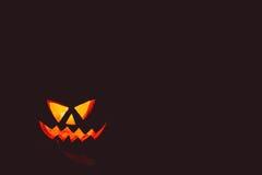 Halloween-lantaarn van de pompoenen de hoofdhefboom Stock Fotografie