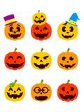 Halloween-Lantaarns royalty-vrije illustratie
