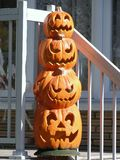 Halloween lantern. Made with four plastic pumpkins Royalty Free Stock Image