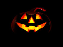 Halloween lantern. On a black background Royalty Free Stock Images