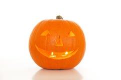 Halloween lantern. On a white background stock photo