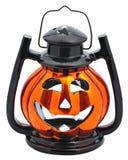 Halloween lantern. A scary Halloween pumpkin-shaped lantern stock image