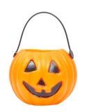 Halloween lantern. A scary Halloween pumpkin-shaped lantern royalty free stock image