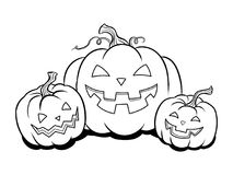 Halloween pumpkin coloring book vector royalty free illustration